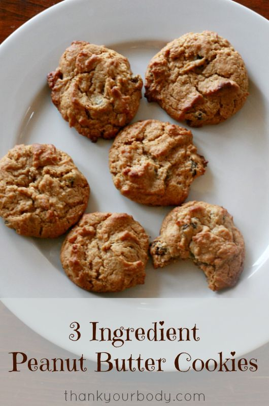 Peanut butter, honey, and an egg...all you need to make these healthy, yummy cookies! soccer snack ideas for kids #soccer #kids #recipe