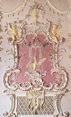 Schleißheim New Palace, Germany Northern Garden Hall                      Stucco-work decoration, Rococo style