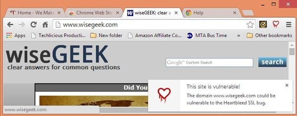 Browser Extentions that Protect Against Heartbleed - Techlicious. l Chromebleed extension for Google Chrome or the Heartbleed-Ext extension for Mozilla Firefox.