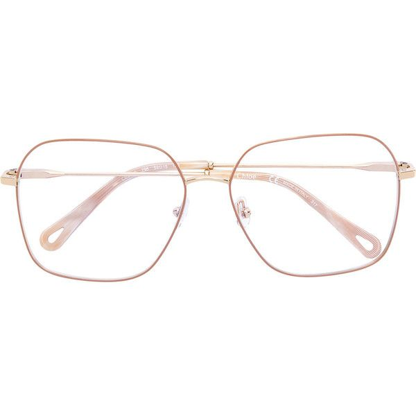 7fddeb56 Chloé Eyewear square frame glasses (€360) ❤ liked on Polyvore ...