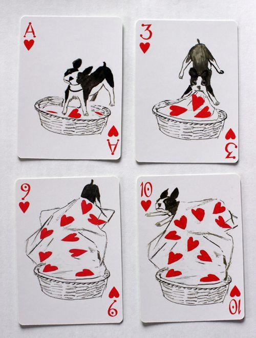 [写真] おもしろ犬が描かれたトランプ(Excite Bit コネタ) - エキサイトニュース