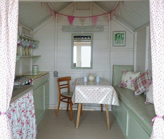 63 best Beach Hut Interiors images on Pinterest | Beach huts ...
