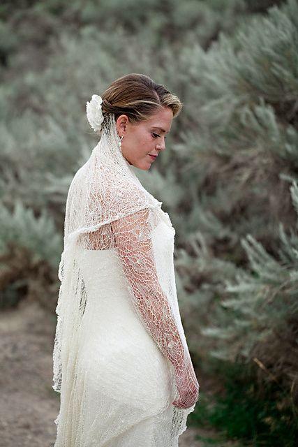 Knitting Veil Stitch : Free knitting pattern Alainas Bridal Veil Wedding and Bridal Knitting ...