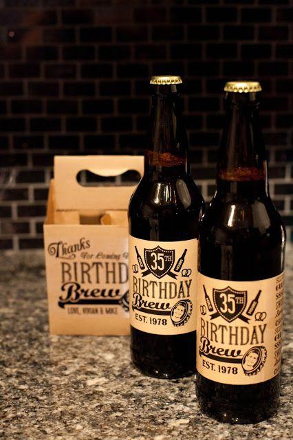 Custom beer labels- birthday party
