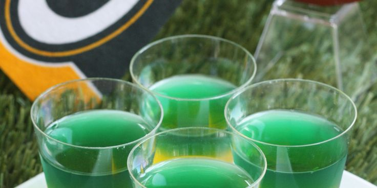 Cheer on the Packers with festive Jell-O shots.