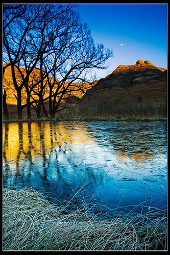 South Africa - Eastern Cape Drakensberg: Warm Reflections By John & Tina Reid