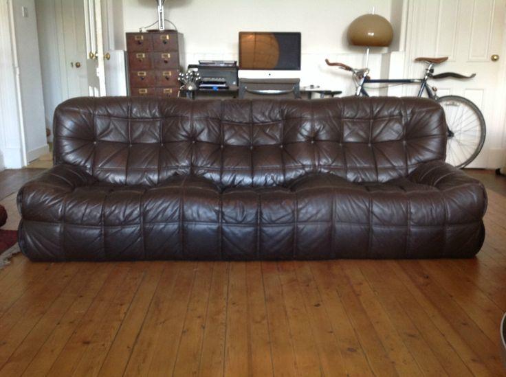 vintage ligne roset leather kashima sofa wohnen und. Black Bedroom Furniture Sets. Home Design Ideas