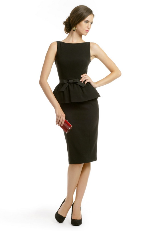 Black Moschino Dress, $300 #Decades #RenttheRunway: Moschino Michele, Renting Dresses, Black Peplum Dresses, Design Dresses, Michelle Peplum, Little Black Dresses, Renting The Runway, Work Dresses, Michele Peplum