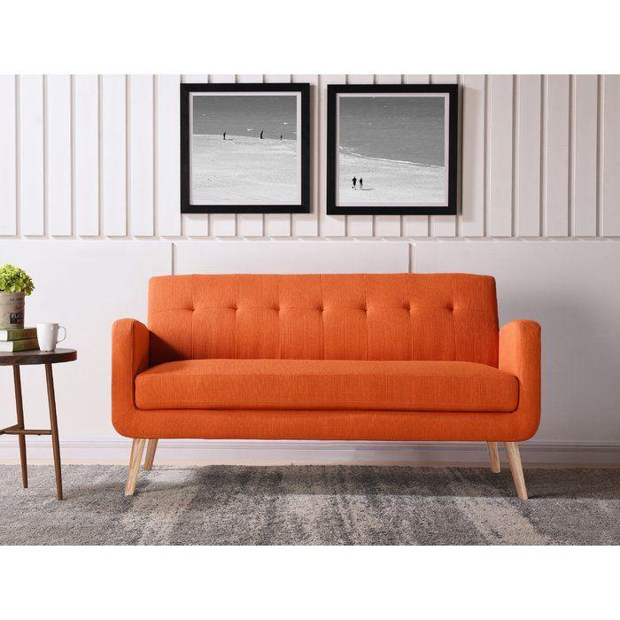 db909af9f678e4ee784d5c17c6edcc15 - Better Homes & Gardens Porter Fabric Tufted Futon Rust Orange