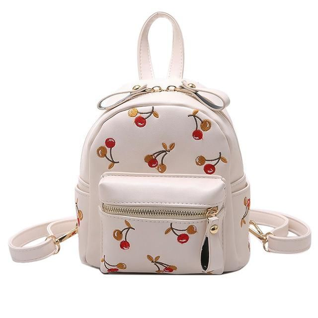 LEFTSIDE 2017 Mini Bagpack Cute Teen Backpacks For Teenage Girls Back Bag Women PULeather Small Embroidery Bags kids Back Bags