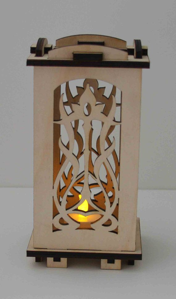 laser cut Wood LuminarieTealight Lamp  Floral Art by ellenstarr, $35.00