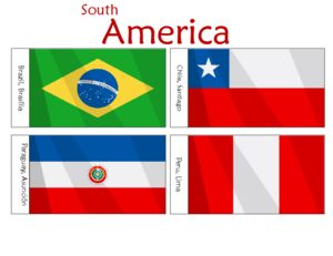 South American Flags Printables For Kids  #free #classroom #printables #flags