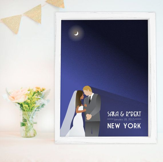 Guest book Poster for Art Deco wedding by MDBWeddings on Etsy