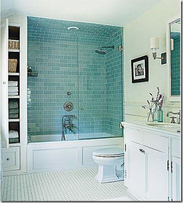 Parfait! Baignoire plus douche dans une alcove et si possible avec rangements sur le cote. C'est ideal!