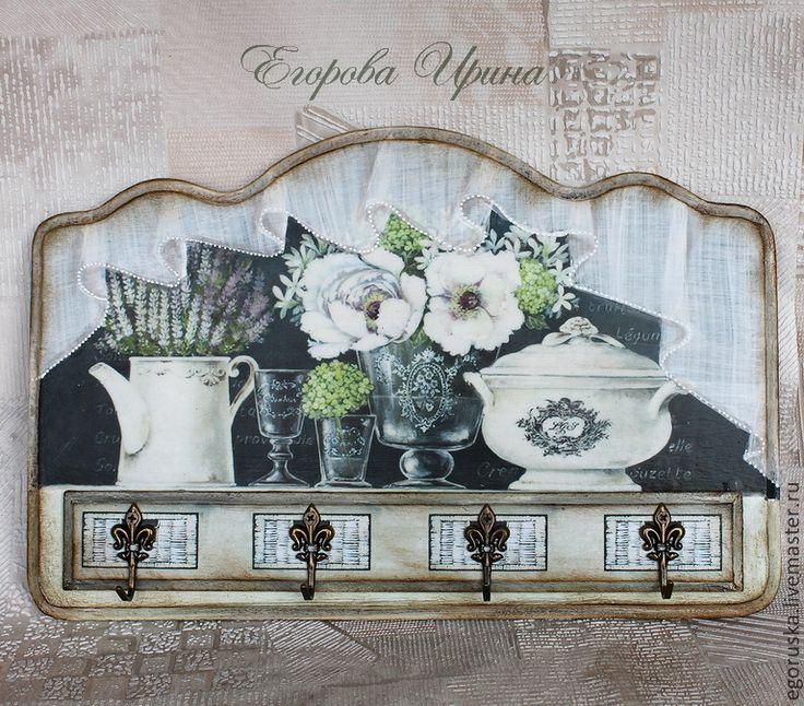 Hallway handmade. Fair Masters - handmade. Buy Housekeeper cozy house. Handmade. Multicolored, Hanger decoupage, key