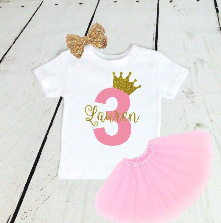 Princess Birthday Outfit Second Birthday Outfit Girl 4th 5th Birthday Girl Outfit First Birthday Outfit Girl Third Birthday Outfit Girl
