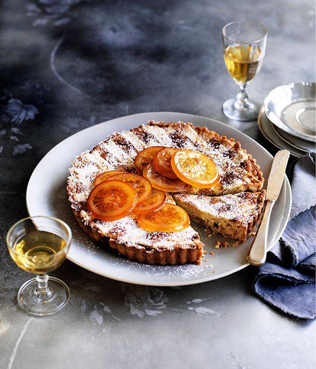 Ricotta, candied orange and Marsala crostata recipe | Gourmet Traveller