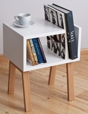 mesa de noche - librero minimalista deco night