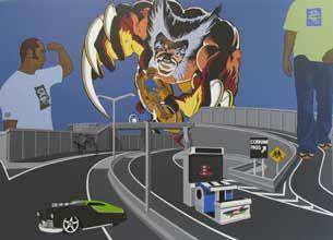 Painting by artist Kelcy Taratoa
