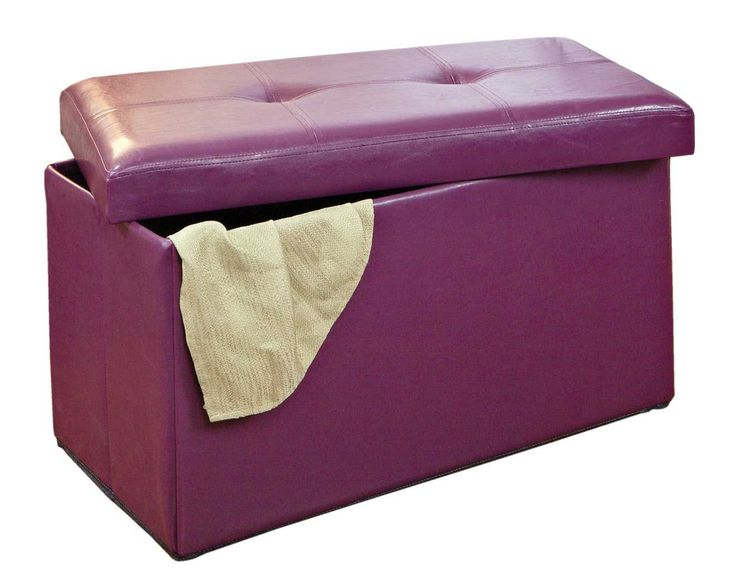Collapsible storage bench with faux leather upholstery. Product: Storage  benchConstruction Material: Faux leather and MDFColor: PurpleDimensions: H  x W x ... - 25+ Best Images About Purple Ottoman On Pinterest Cottage Living