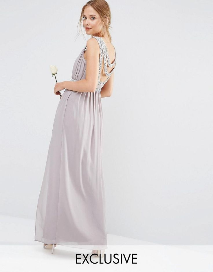 TFNC | TFNC WEDDING Embellished Back Detail Maxi Dress at ASOS