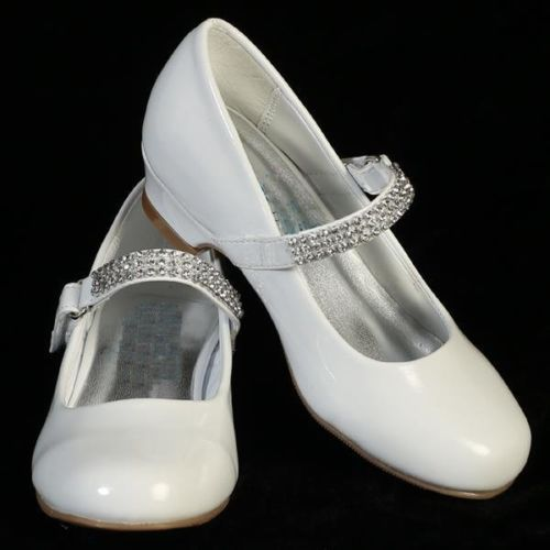 NEW-Flower-Girl-Bridesmaids-Communion-Wedding-Party-Shoes-White-Size-13-4