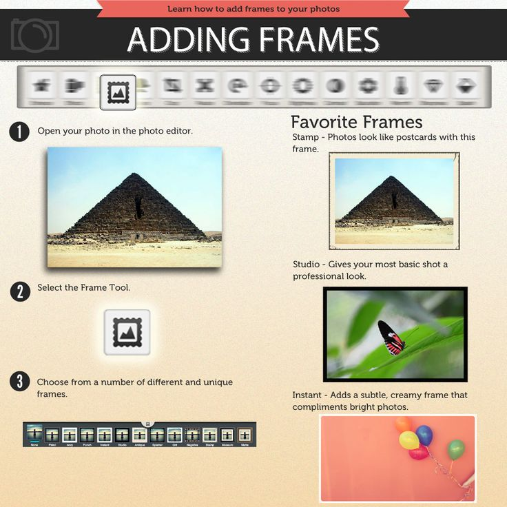 Check out how to add frames in the Photobucket Image editor.