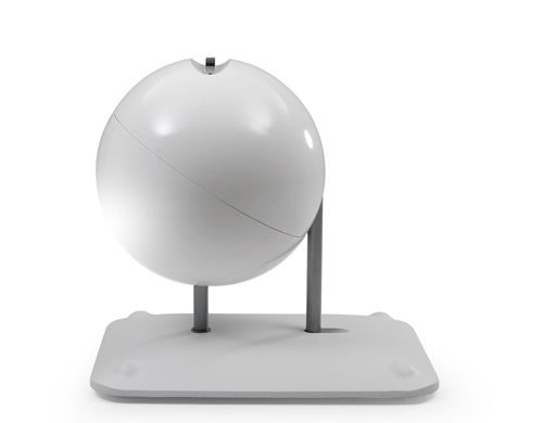 Globus mobile workstation by Michael van der Kley, 2007 -- Baydour shell, aluminum cast base, fabric Made in Holland by Artifort