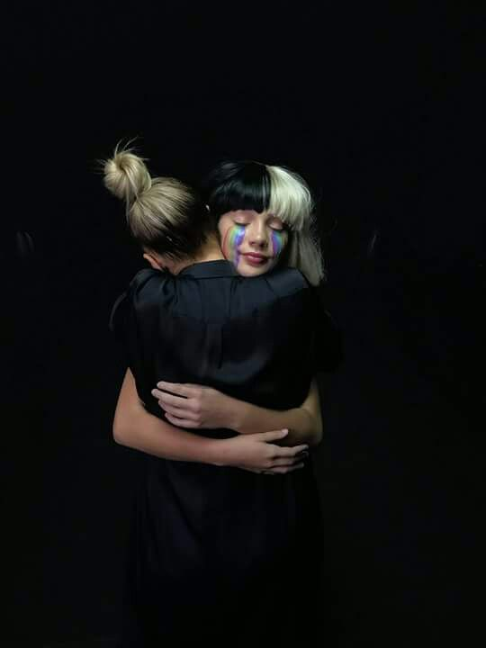 Maddie and sia just hugging it out
