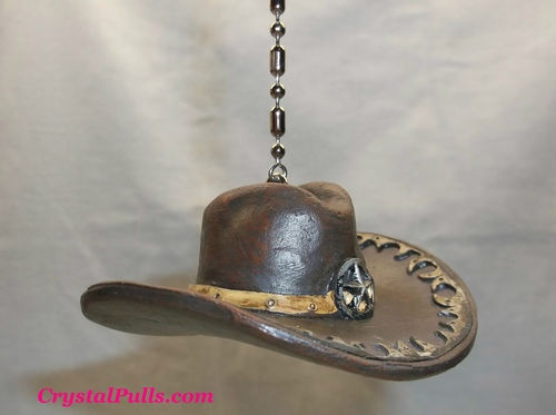 Western Decor Cowboy Cowgirl Ceiling Fan Light Chain Pull