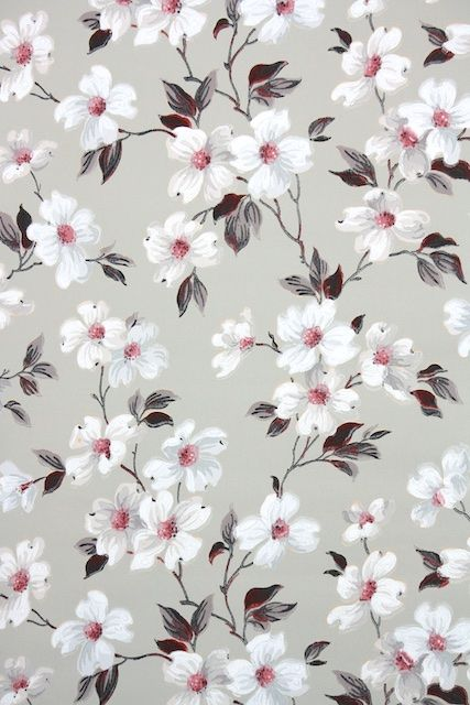 Blue And Gray Floral Wallpaper