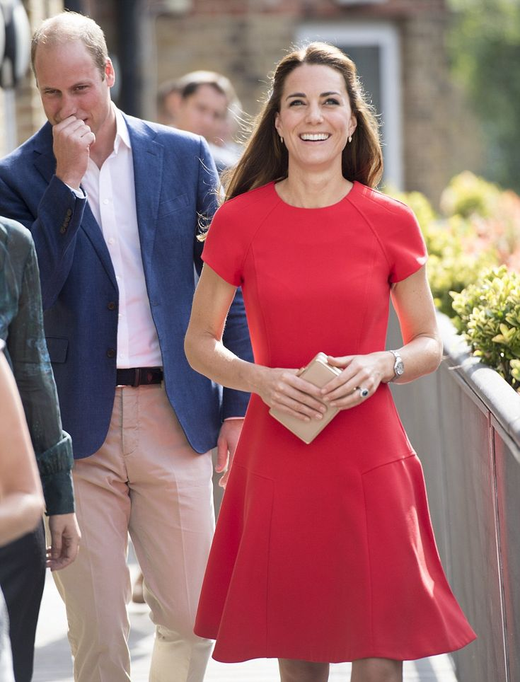 The Duchess smiles as she leaves the session in which she and William learned…