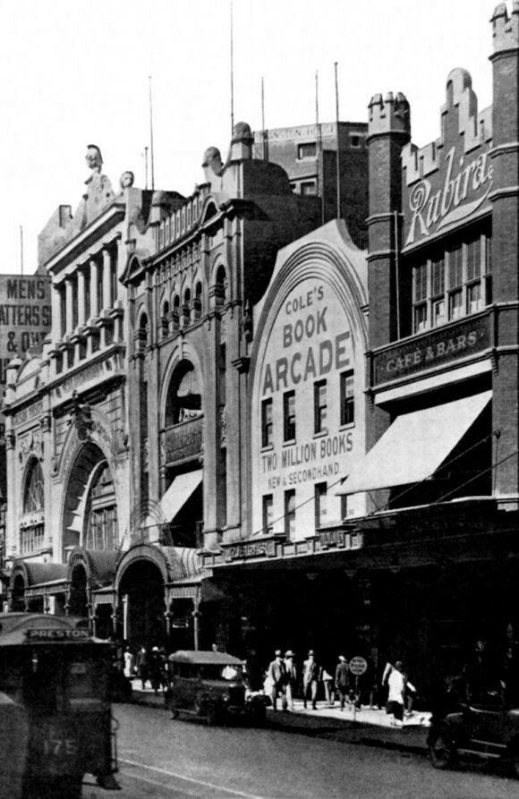 Cole's Book Arcade at 299 Bourke St,Melbourne (year unknown).