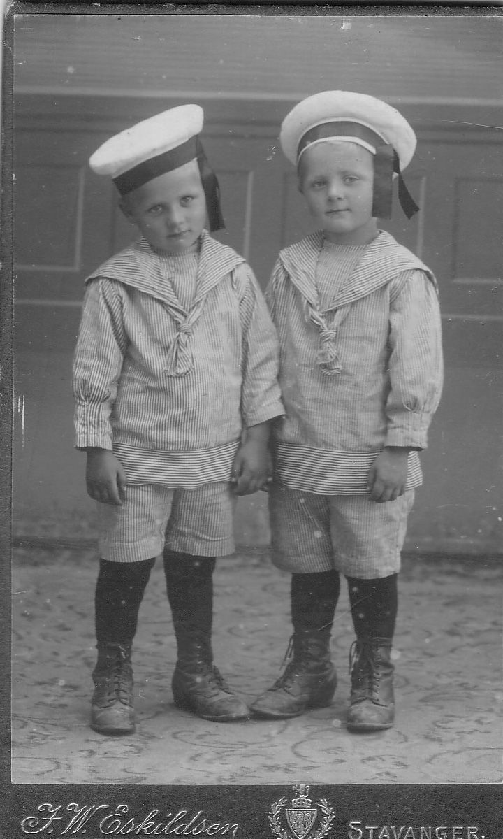 Gabriel and Olav Hølland, these cute guys are actually my grandmothers brothers.
