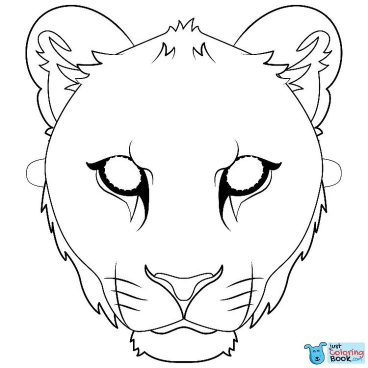 lioness mask coloring page free printable coloring pages
