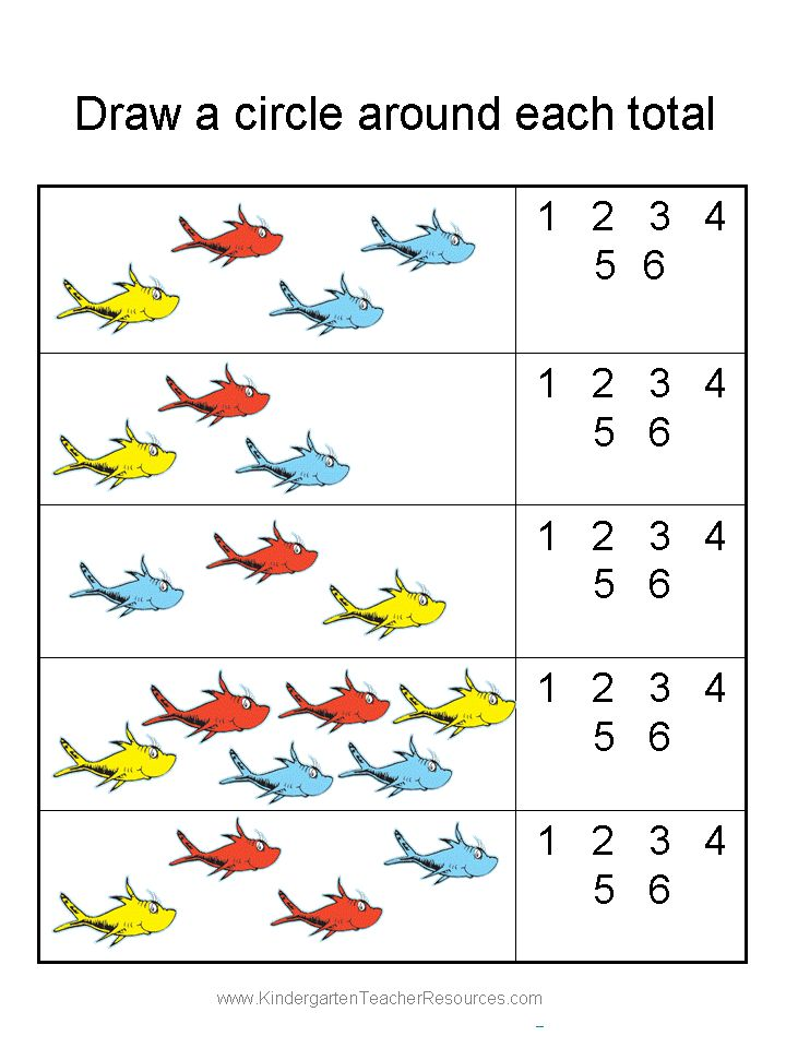 Dr. Seuss Printable Worksheets | Free Printable Kindergarten Worksheets