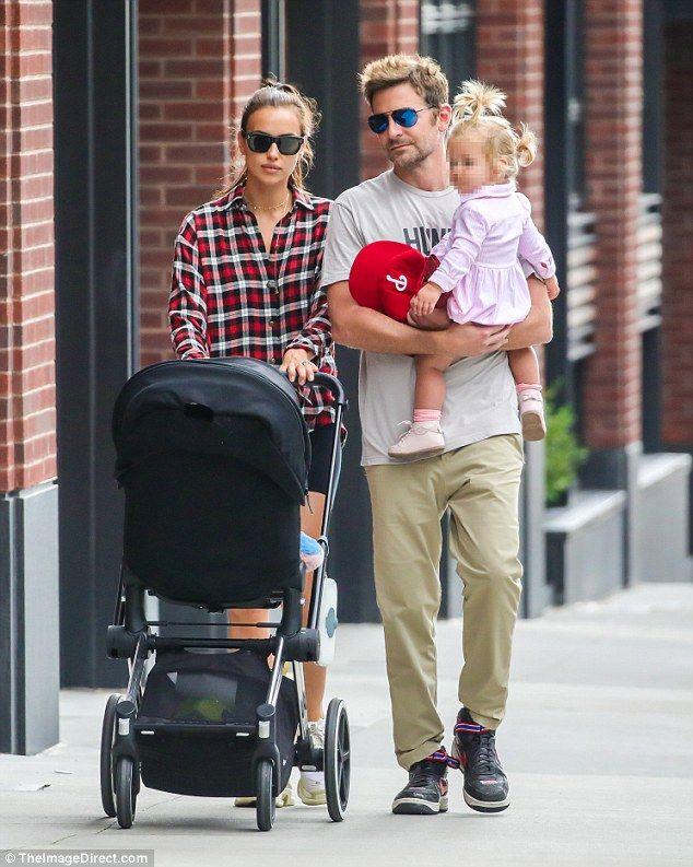 Bradley Cooper and Irina Shayk cuddle up to baby daughter ...