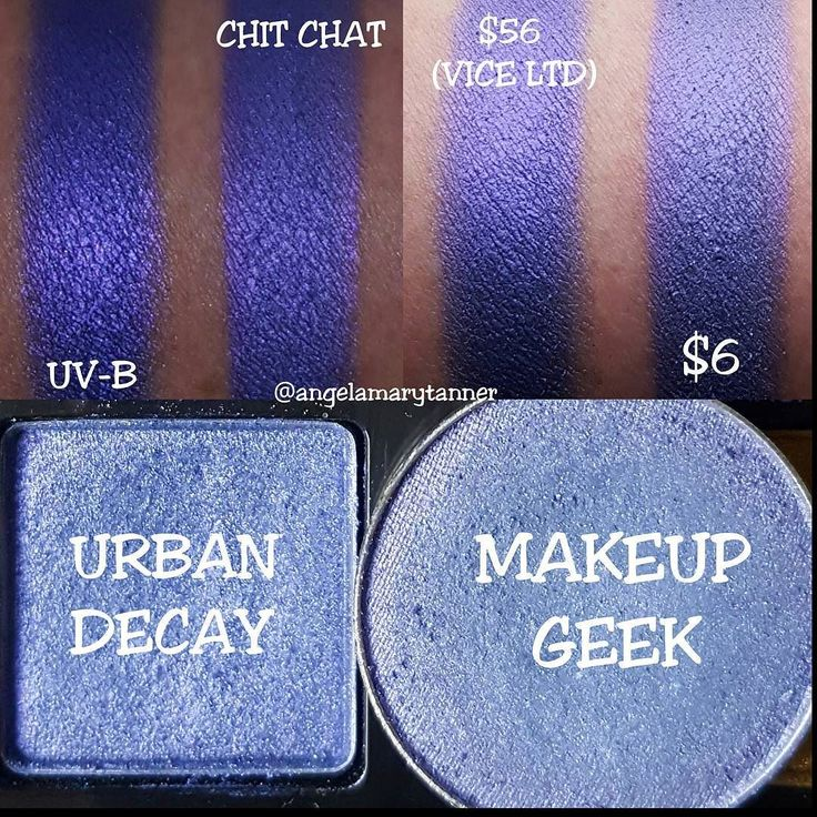 URBAN DECAY 'UV-B' ($56 VICE LTD) vs MAKEUP GEEK 'CHIT ...