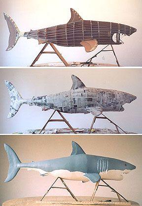 Paper mache shark.