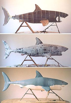 Paper mache shark. Definitely on the to-do list