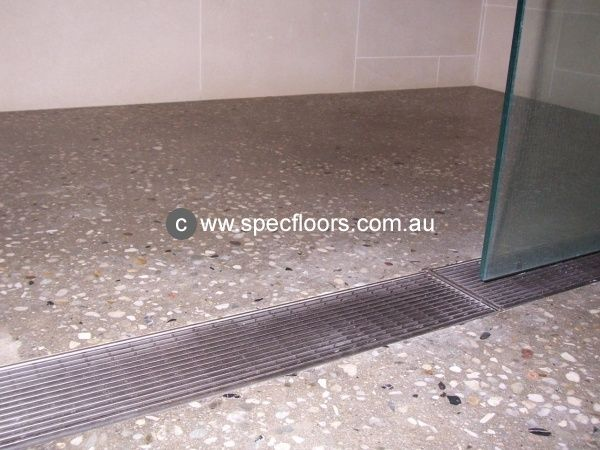 Polished Concrete Shower Floor Google Search Aggregate In 2018 Pinterest Bathroom Flooring And