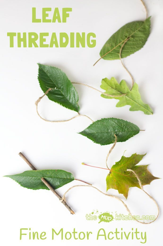 Kids can engage with Nature, get creative and develop their motor skills with this all natural leaf threading activity.