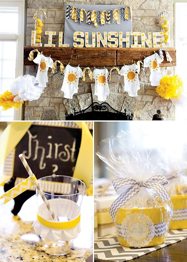 You Are My Sunshine Gender Neutral Baby Shower Entertaining And