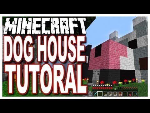 Minecraft - Dog House Tutorial - Easy Build - http://www.thehowto.info/minecraft-dog-house-tutorial-easy-build/