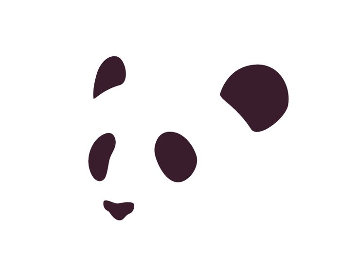 The artist shaped and arranged these 5 blobs to portray a panda.