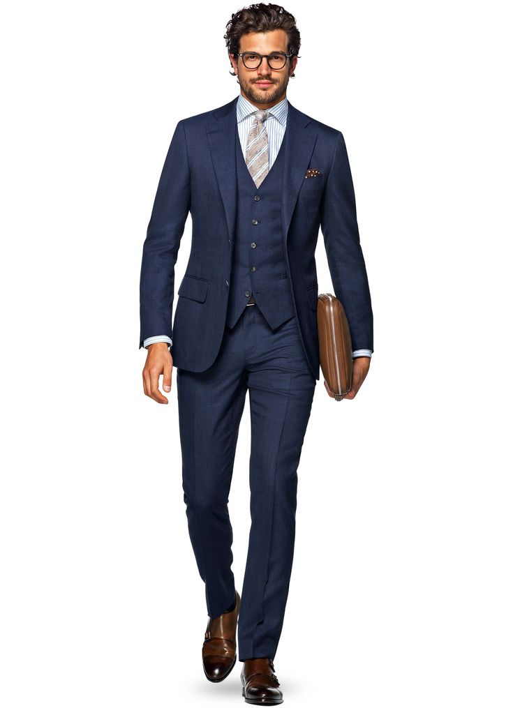 Suit ブルー チェック Lazio P4860i   Suitsupply Online Store