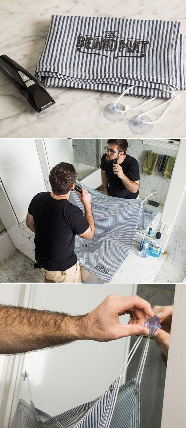 Keep your bathroom clean when you trim your beard, moustache, or hair.