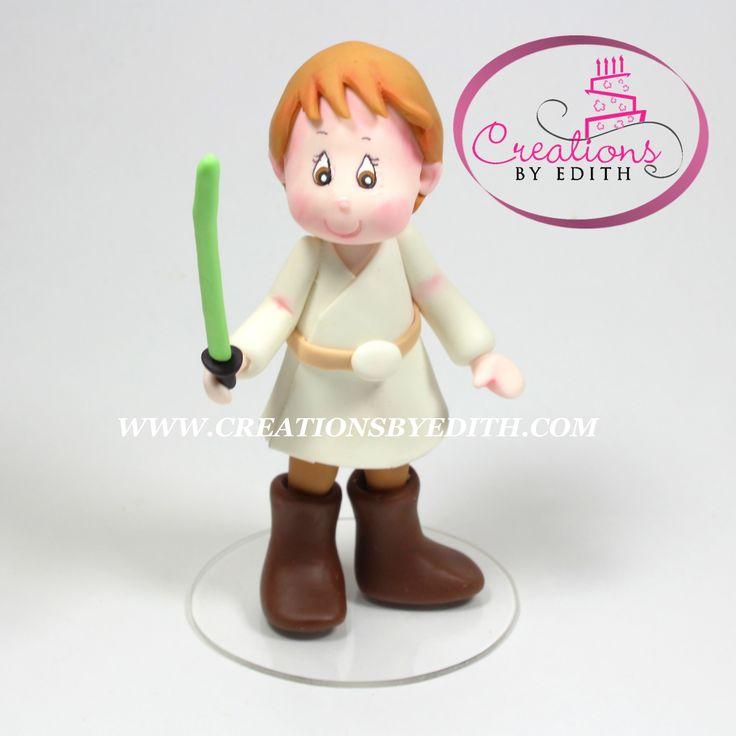 Luke Skywalker, inspirado en Star Wars, video curso paso a paso en porcelana fria,