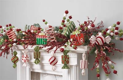 """Image Gallery > RAZ 8"""" Glittered Peppermint Candy Christmas Ornament Set of 3 - Trendy Tree"""