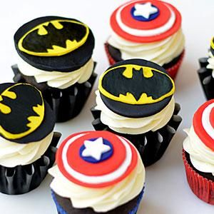 Learn how to make Batman fondant cupcake toppers as a fun birthday idea for children and adults alike. Click the recipe below for downloadable stencils!